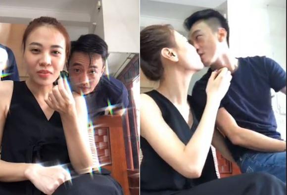 Cường Đô la và Đàm Thu Trang \'khoá môi\' khi livestream