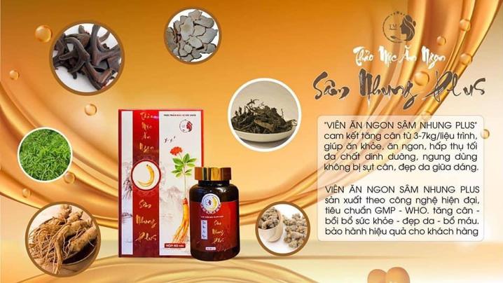 Sâm Nhung Plus – tinh tuý từ thiên nhiên hỗ trợ tăng cân an toàn và hiệu quả.